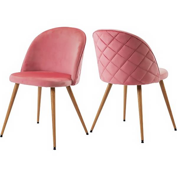 Dining room chair Living room chair Upholstered chair Lounge chair Velvet kitchen chair Soft seat and back with wooden metal legs, set of 2, color selection