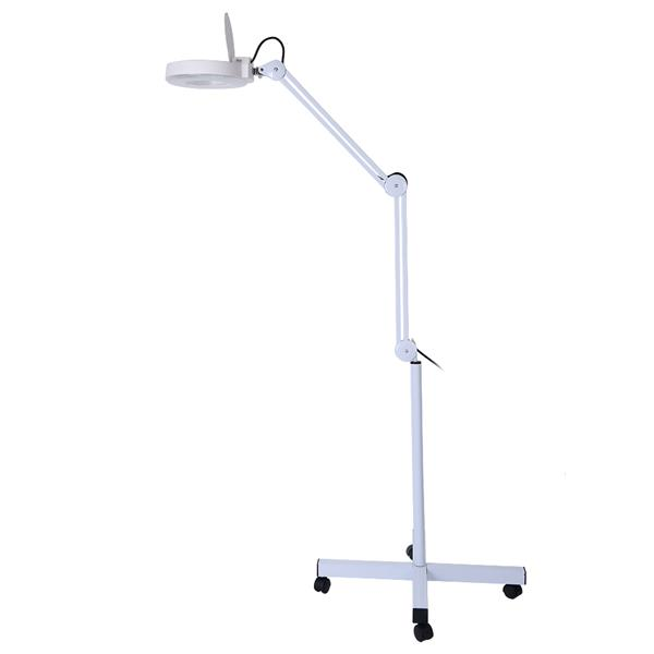 Magnifying LED Floor Lamp with Stand Flexible Adjustable Height Cold Light Reading Medical US