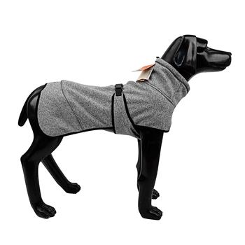 Water Repellent Softshell Dog Jacket Pet Clothes for Spring Autumn,Outdoor Sport Dog Jacket with High Neckline Collar Cold Weather Pets Apparel Winter Warm Coats Puppy Comfort Vest-(lightgray,size L)