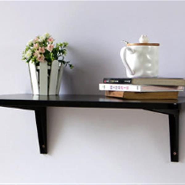 Wall Mounted Floating Folding Table Desk for Office Home Kitchen 80 x 50cm Black