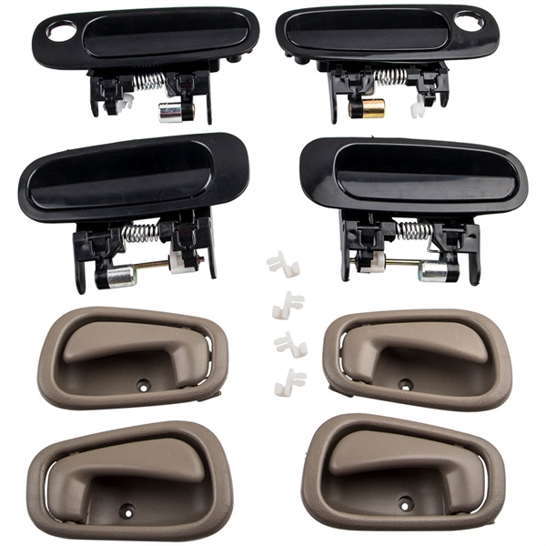 4 Pair Outer Inner Door Handle Set for Toyota Corolla1998-2002 69210-02030