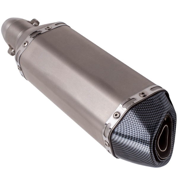 38-51mm Carbon Fiber Exhaust Muffler Pipe W/ Removable DB Killer Motorcycle
