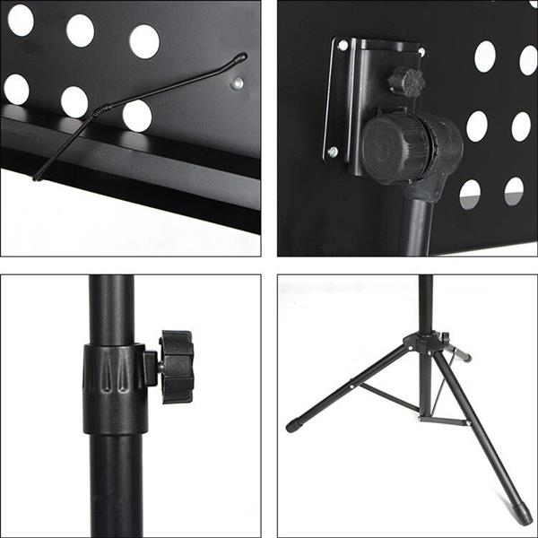 Glarry Professional Conductor Music Stand Black