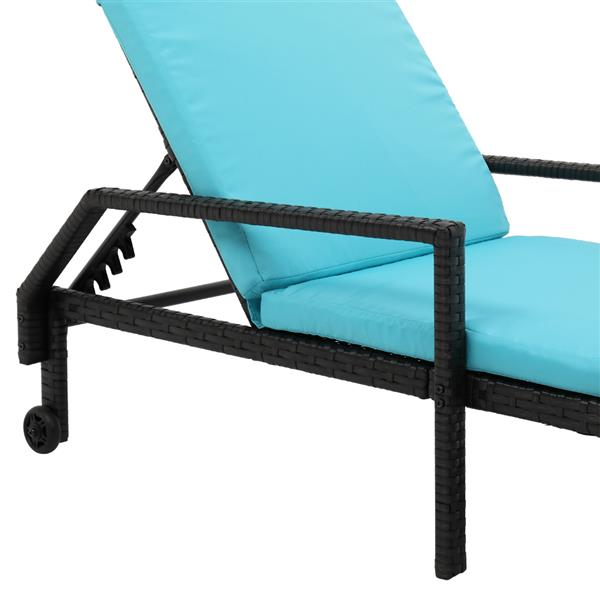 Wheeled Bed Black Gold Thread
