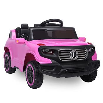 LEADZM LZ-910 Electric Car Single drive Children Car with 35W*1 6V7AH*1 Battery  Pre-Programmed Music and Remote control Pink