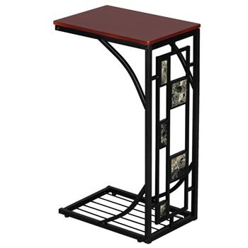 Iron Side Table Coffee Table Brown