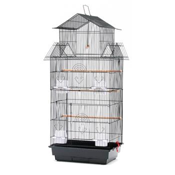 "39"" Bird Cage Pet Supplies Metal Cage with Open Play Top"