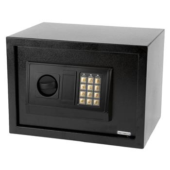E25EA Small Size Electronic Digital Steel Safe Strongbox Black