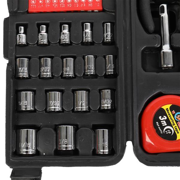 186pc Tool Set black and red