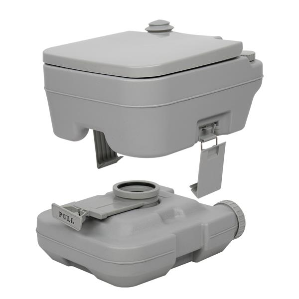 10L Portable Removable Flush Toilet with Double Outlet