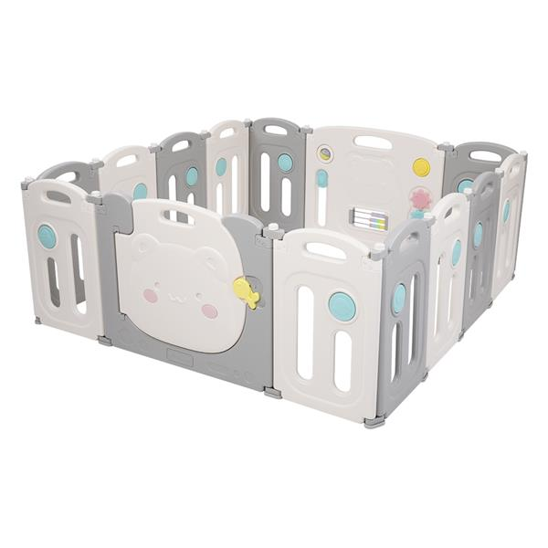 Baby Elephant Foldable Safety Fence (12 2) Dark Blue And White
