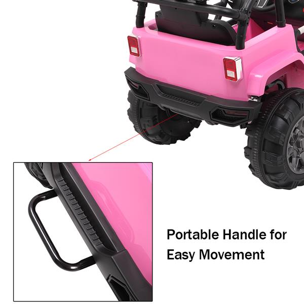 LEADZM LZ-905 Remodeled Jeep Dual Drive 45W * 2 Battery 12V7AH * 1 With 2.4G Remote Control Pink