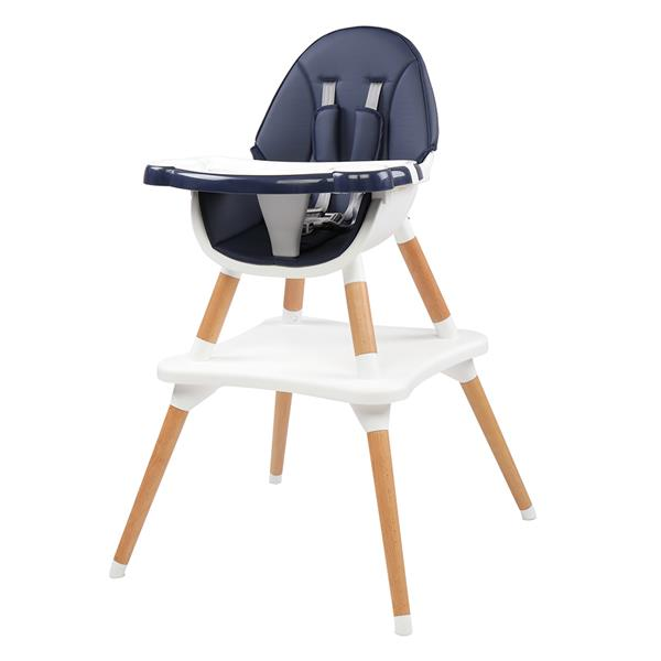 Children's High Dining Chair Detachable Two-In-One Table And Chair Navy Blue