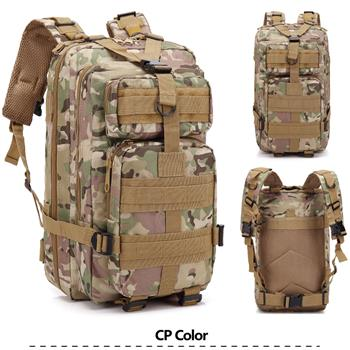 3P Marching Backpack Outdoor War Game Shoulder Bag 30L CP Camouflage