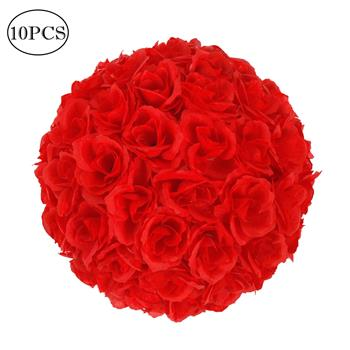 10Pcs 25CM Flower Balls Wedding Decoration Red