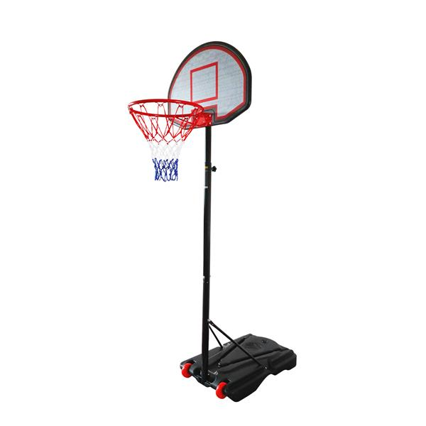 Adjustable-Height 1.6m~2.2m Portable Basketball Stand Movable Black&Red
