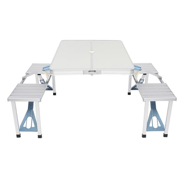 One Piece Folding Table and Chair Aluminum Alloy
