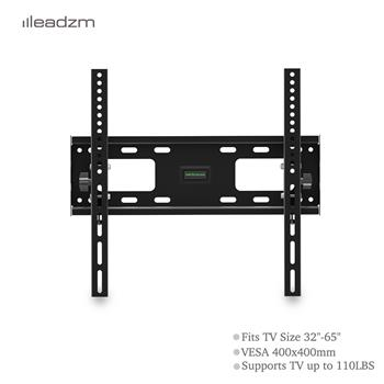 "LEADZM TMW400 32-65"" Flat Tilting TV Wall Mount  with Spirit Level"
