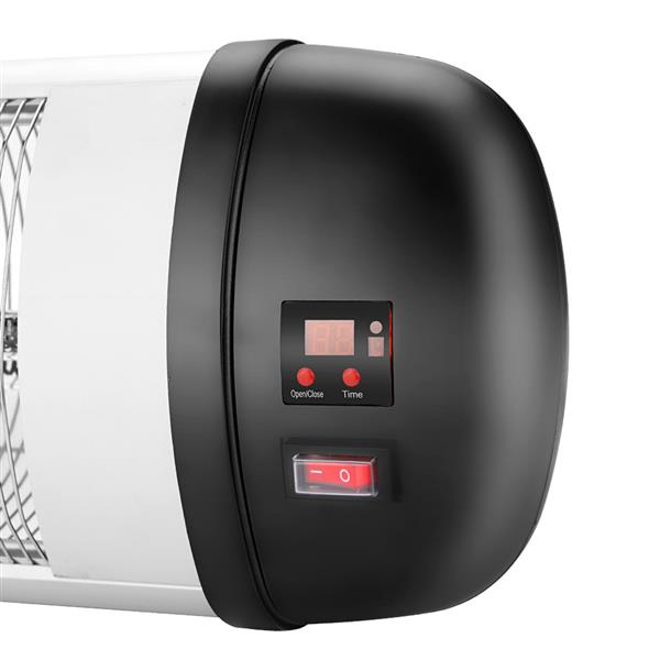ZOKOP US PHW-1500CR 1500W Wall Terrace Heater with Remote Control / First Gear / Fake Firewood / Single Color / 1 Quartz Tube Black