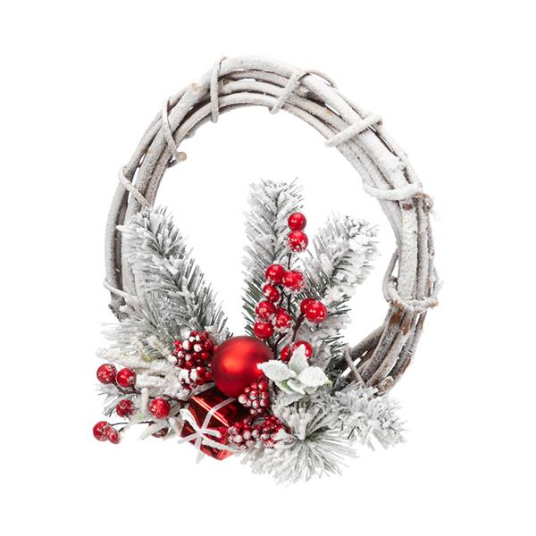 Artisasset Christmas Wreath With Snow White Effect