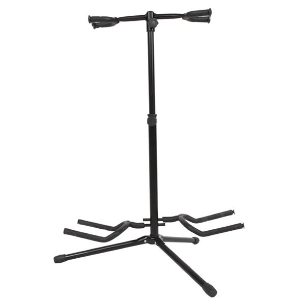 Glarry Guitar Accessory Vertical Style Alloy Guitar Stand Holder Black
