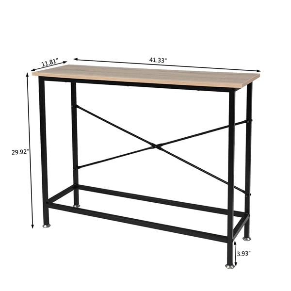 FCH Console Table Entry Table Sofa Side Table for Entryway Living Room Oak