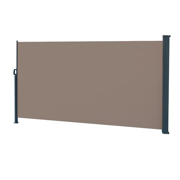 Outdoor Aluminum Handle Pentacle Side Pull Shed Office Partition Cafe Terrace Windshield Isolation Canopy  Brown