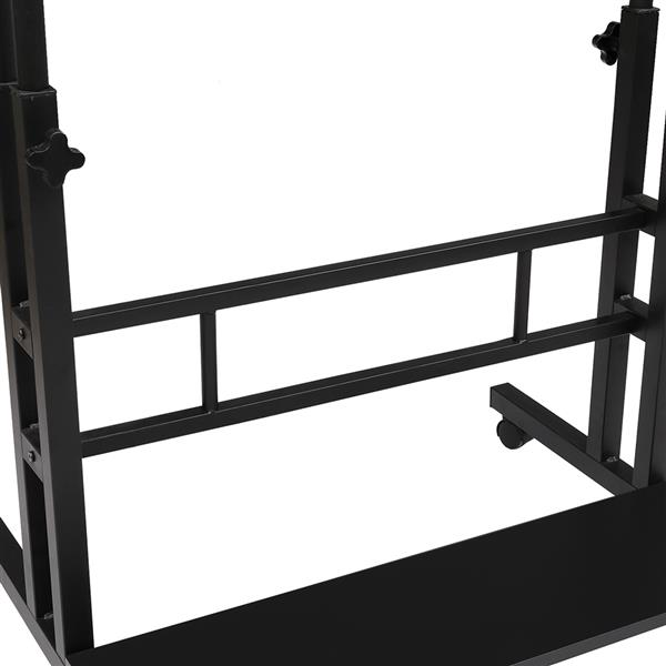 Standing Lifting Computer Desk Double Tube Lifting Larger Black[80*54*70CM]