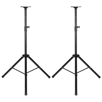 LEADZM LZ-SP2 Pair Height Adjustable 35MM COMPATIBLE Tripod DJ PA Speaker Stands