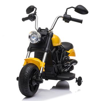 Kids Electric Ride On Motorcycle With Training Wheels 6V Yellow