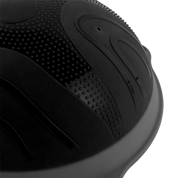 Yoga Ball Balance Hemisphere Fitness for Gym Office Home Black