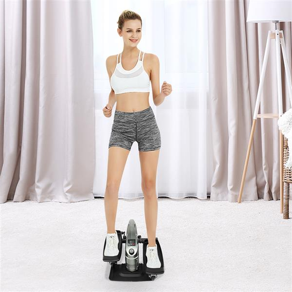 T3 household Mini exercise bike station dual use leg trainer with portable   gray