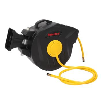 "3/8"" X 50' Retractable Air Compressor Hose Reel Auto Rewind Garage Tool 300PSI"