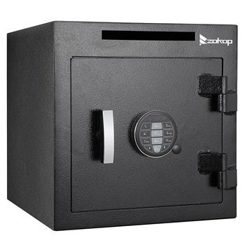 ZOKOP External Hinge Electronic Code Depository Security Safe Black