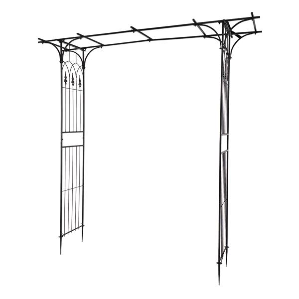 Flat Roof Wrought Iron Arches Plant Climbing Frame