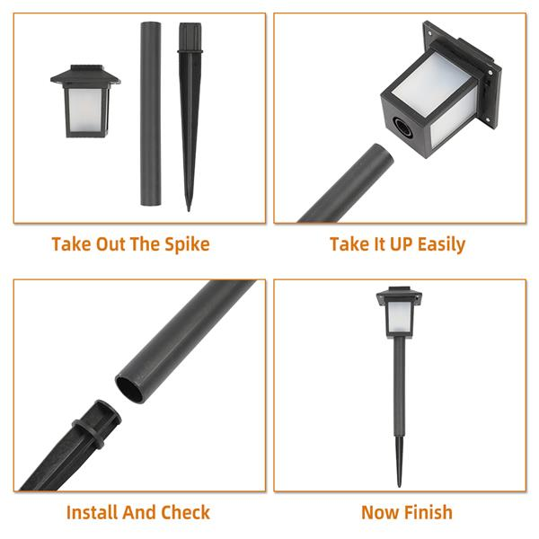 6pcs Waterproof Solar Torch Light Outdoor Decorative Lighting with Flickering Dancing Flames Auto On/Off