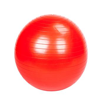 65cm 1050g Gym/Household Explosion-proof Thicken Yoga Ball Smooth Surface Red