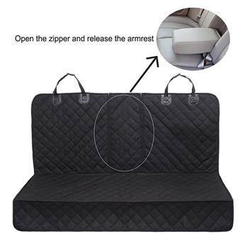 Dog Seat Covers 100% Waterproof Pet Car Seat Cover Nonslip Bench Seat Covers Armrest Compatible for Back