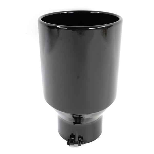 """Black Paint Stainless Steel Exhaust Tip for Most Vehicles With 5"""" Diameter Inlet Size Only"""
