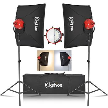 Kshioe Professional Photo Video Studio 500W Stepless dimming Continuous Barndoor Light Head Photography(The product has a risk of infringement on the Amazon platform)
