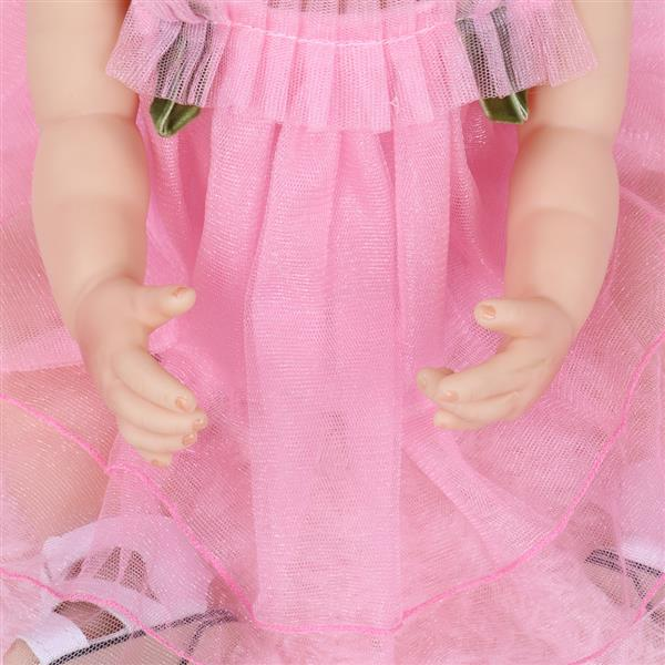 All-Plastic Simulation Doll: 22 Inches Pink Lace Skirt