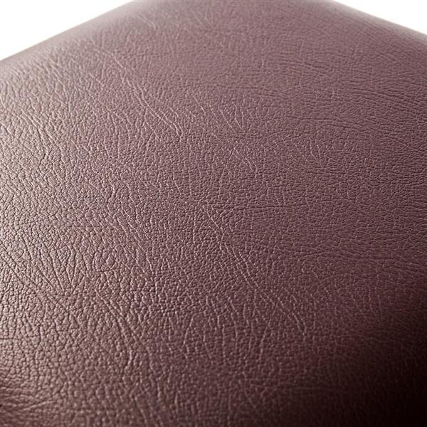 [FCH] PU Leather Footstool with Leather Footstool Brown 38*38*38cm