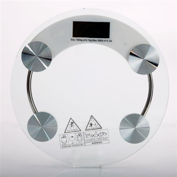 03A-180KG /100G High Strength Toughened Glass 4-Digits LCD Display Electronic Weighting Scale Transp