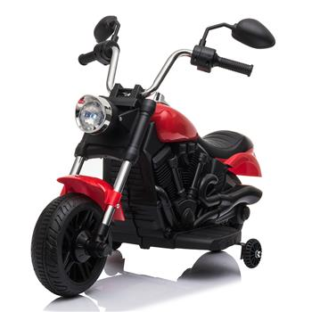 Kids Electric Ride On Motorcycle With Training Wheels 6V Red