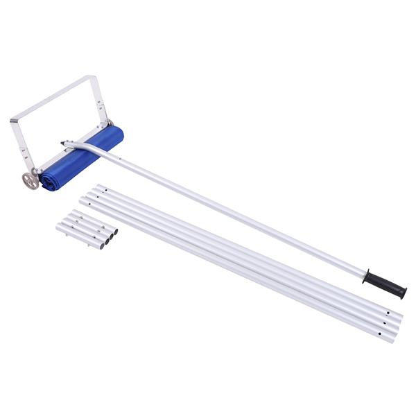 Oshion Aluminum Frame Cloth Head Roof Snow Remover 1.2m 5 Sections 20Feet