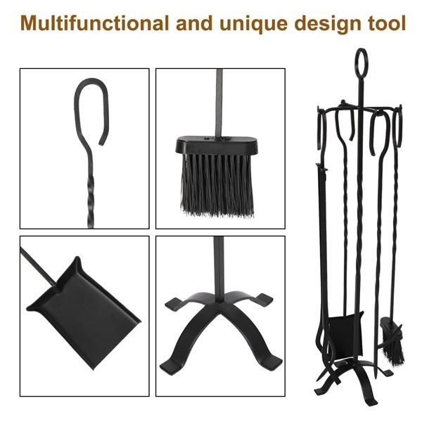 Stove Tool Five In One Flat Iron Cross Base