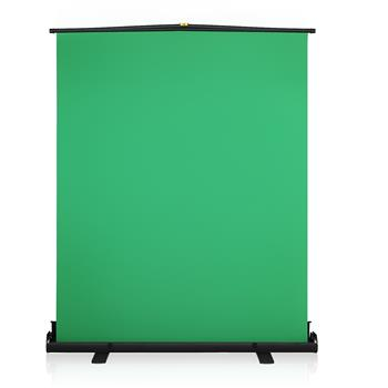 Kshioe GS70 Portable Folding Telescopic Pull Background Screen Green(The product has a risk of infringement on the Amazon platform)