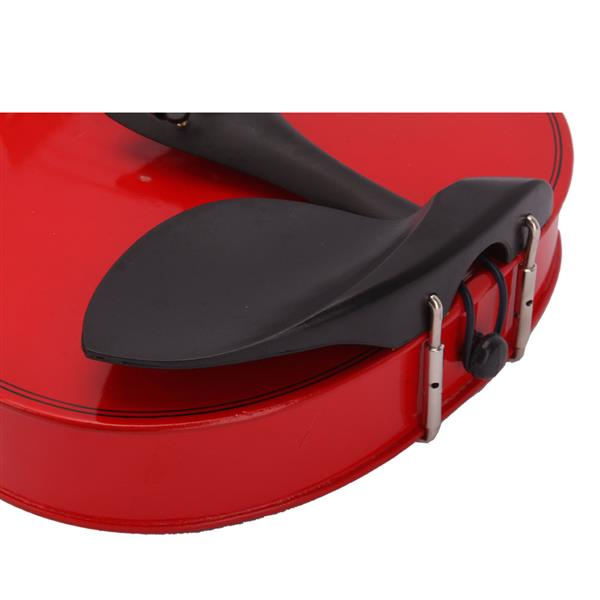 New 4/4 Acoustic Violin Case Bow Rosin Red