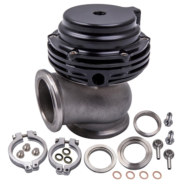 Blow off Valve 38mm 2-Bolt Flange External Wastegate Turbo Mount High Pressure Dump Valve Kit