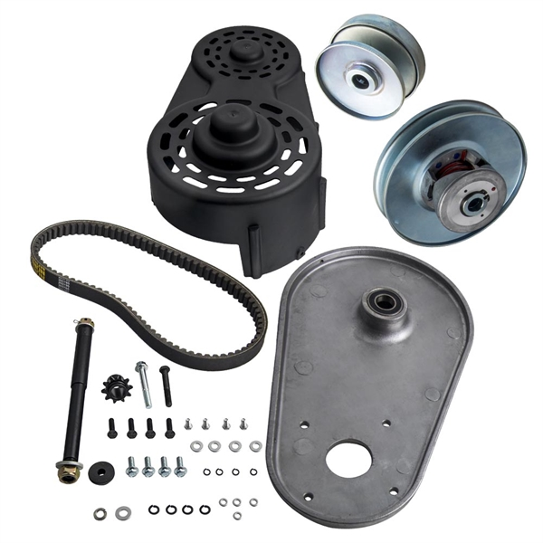 """40 Series 1"""" Driver 5/8"""" Driven Torque Converter Clutch Pulley Kit Backplate"""